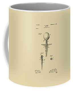 Vintage 1899 Golf Tee Patent Artwork Coffee Mug by Nikki Marie Smith