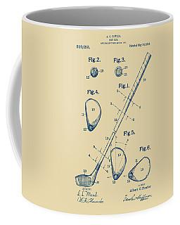 Vintage 1910 Golf Club Patent Artwork Coffee Mug