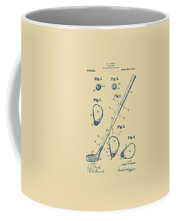 Vintage 1910 Golf Club Patent Artwork Coffee Mug by Nikki Marie Smith