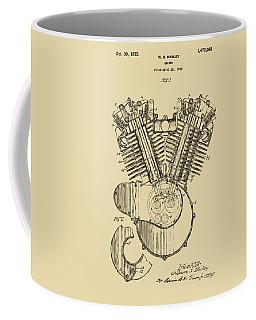 Vintage 1923 Harley Engine Patent Artwork Coffee Mug