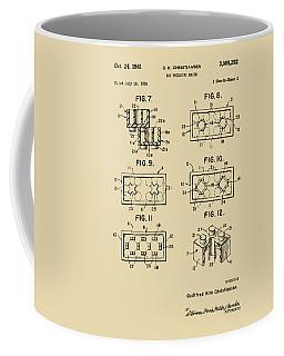Vintage 1961 Lego Brick Patent Art Coffee Mug