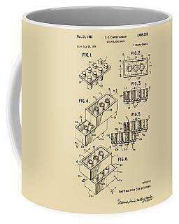 Vintage 1961 Toy Building Brick Patent Art Coffee Mug