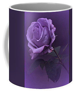Vintage 2017 Purple Rose Coffee Mug