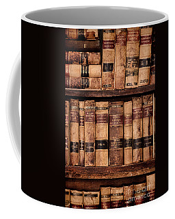 Coffee Mug featuring the photograph Vintage American Law Books by Jill Battaglia