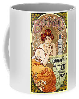 Vintage Art Nouveau Bechers Original Bitter 1807 Coffee Mug