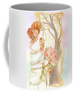 Vintage Art Nouveau Flower Lady Coffee Mug
