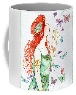 Vintage Art Nouveau Lady Party Time Coffee Mug