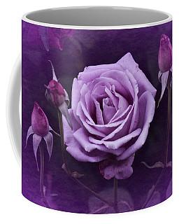 Vintage Aug Purple Rose Coffee Mug