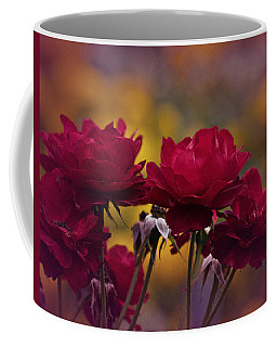 Vintage Aug Red Roses Coffee Mug