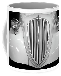 Vintage Auto Grille In Black And White Coffee Mug by Patricia Strand