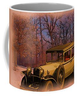 Vintage Auto In Winter Coffee Mug