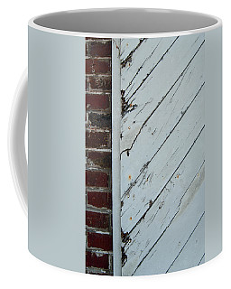 Vintage Barn Door And Red Brick Coffee Mug by Jani Freimann