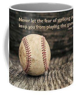 Vintage Baseball Babe Ruth Quote Coffee Mug