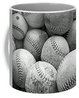 Vintage Baseballs Coffee Mug by Brooke T Ryan