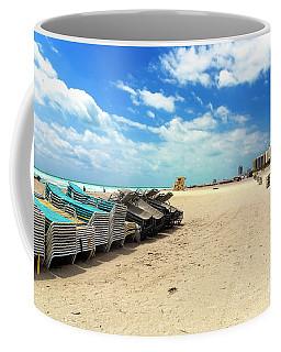 Vintage Beach Chairs At South Beach Coffee Mug