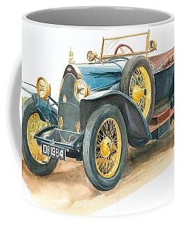 Vintage Blue Bugatti Classic Car Coffee Mug