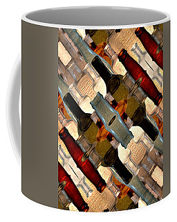 Vintage Bottles Abstract Coffee Mug