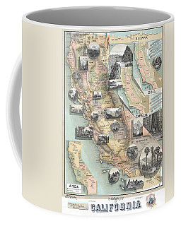 Vintage California Map Coffee Mug