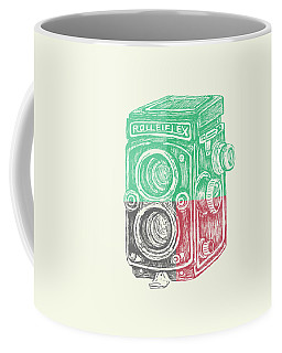 Vintage Camera Color Coffee Mug