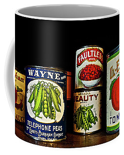 Vintage Canned Vegetables Coffee Mug