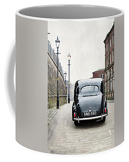 Vintage Car On A Cobbled Street Coffee Mug by Lee Avison