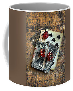 Vintage Cards Dice And Cash Coffee Mug