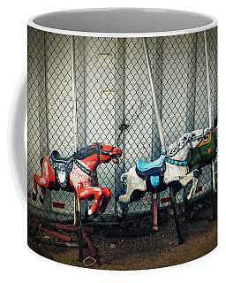 Vintage Carousel Horses 006 Coffee Mug by Tony Grider