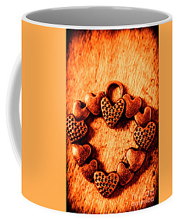Vintage Circle Of Hearts Coffee Mug