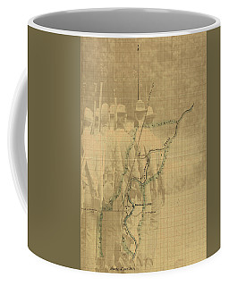 Coffee Mug featuring the digital art Vintage Civil War Map Art, The Battle Of Chickamauga by Shelli Fitzpatrick