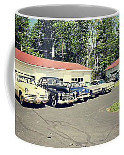 Coffee Mug featuring the photograph Vintage Classic Cars by Trina Ansel