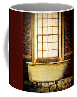 Vintage Clawfoot Bathtub By Window Coffee Mug by Jill Battaglia