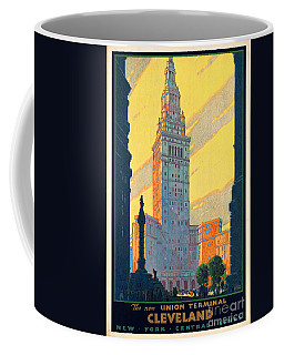 Vintage Cleveland Travel Poster Coffee Mug
