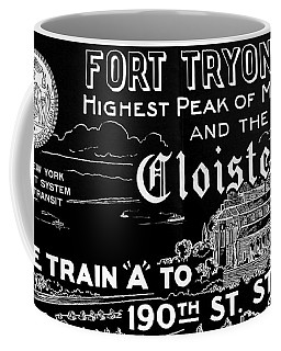 Vintage Cloisters And Fort Tryon Park Poster Coffee Mug