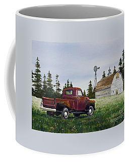 Coffee Mug featuring the painting Vintage Country Pickup by James Williamson