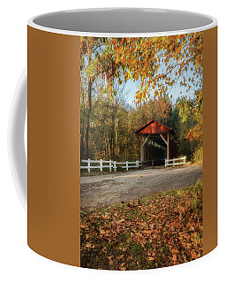Coffee Mug featuring the photograph Vintage Covered Bridge by Dale Kincaid
