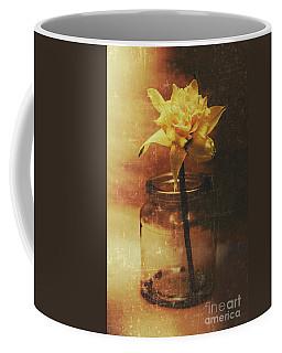 Vintage Daffodil Flower Art Coffee Mug