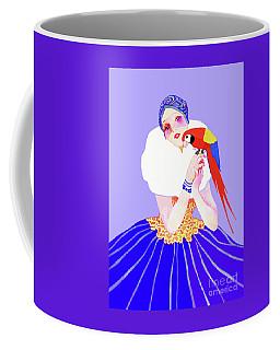 Vintage Dancer With Parrot Coffee Mug