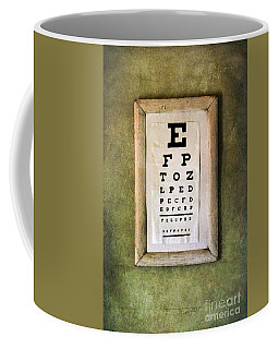 Vintage Eye Chart Coffee Mug