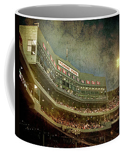 Coffee Mug featuring the photograph Vintage Fenway Park At Night by Joann Vitali