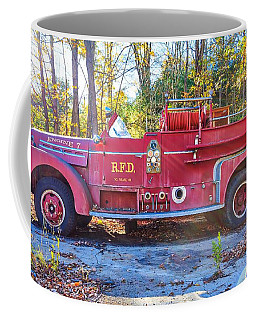 Vintage Fire Truck South Weare New Hampshire Coffee Mug