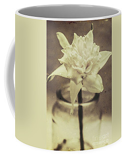 Vintage Floral Still Life Of A Pure White Bloom Coffee Mug