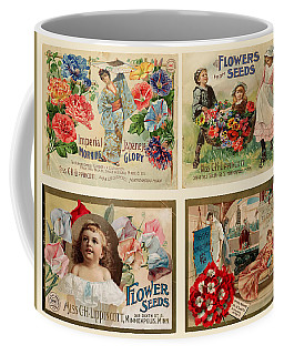 Vintage Flower Seed Packets Coffee Mug by Peggy Collins