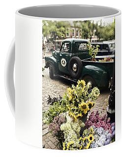 Vintage Flower Truck-nantucket Coffee Mug