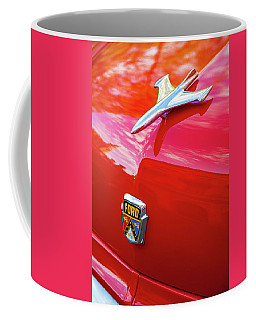 Coffee Mug featuring the photograph Vintage Ford Hood Ornament Havana Cuba by Charles Harden