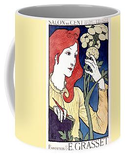 Vintage French Advertising Art Nouveau Salon Des Cent Coffee Mug