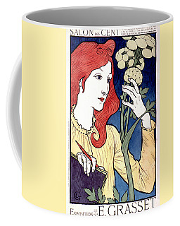 Vintage French Advertising Art Nouveau Salon Des Cent Coffee Mug