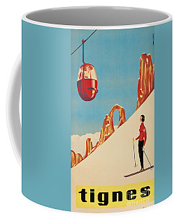 Vintage French Skiing Coffee Mug