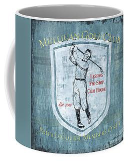 Vintage Golf Blue 1 Coffee Mug