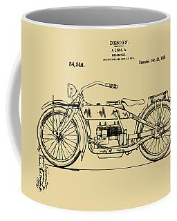 Vintage Harley-davidson Motorcycle 1919 Patent Artwork Coffee Mug