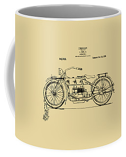 Vintage Harley-davidson Motorcycle 1919 Patent Artwork Coffee Mug by Nikki Smith
